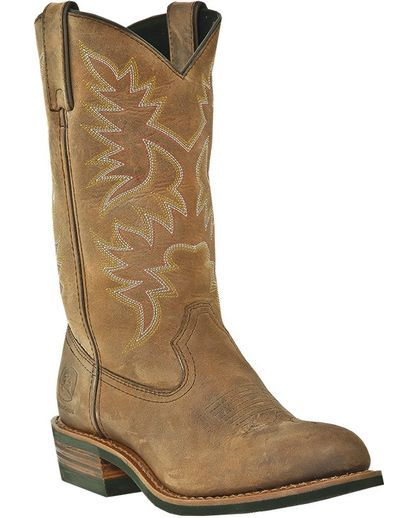 "Love these! Women's 11"" Western Pull-On Boot - Brown Distressed Crazy Horse"