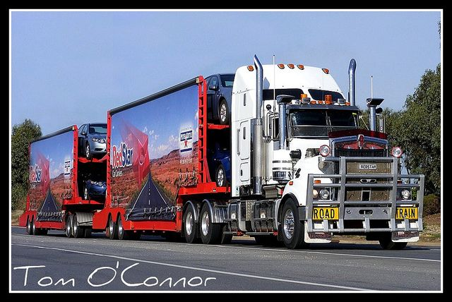27 best aussi trucks images on pinterest trucks cars and truck redstar car carriers kenworth double road train departs adelaide as it starts its journey north to alice springs publicscrutiny Images