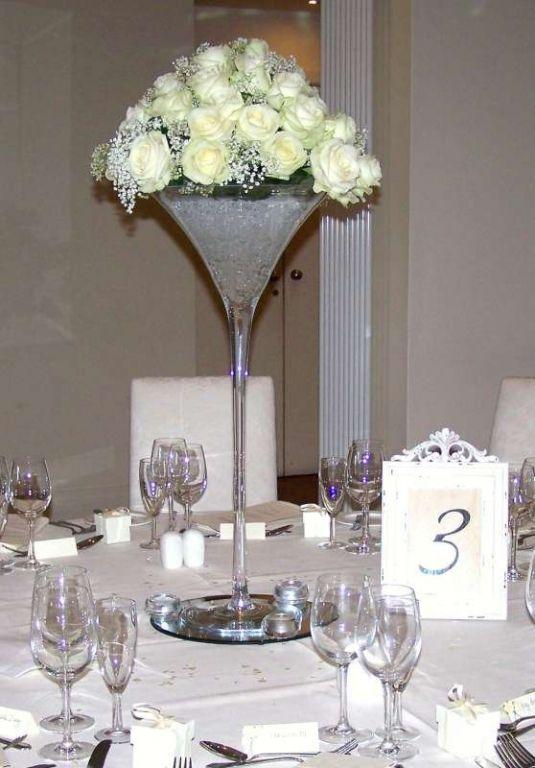Best martini glass wedding centerpiece images on pinterest
