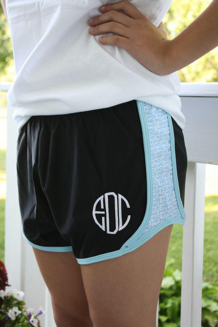 Krass & Co. Athletic Shorts: Gladeville Farmhouse monogram athletic shorts