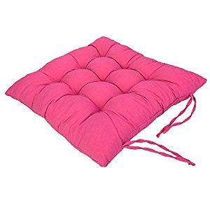 """Amazon.com: Chair Pads Cushion Pad Seat Chair Patio Home Car Sofa Office Square Kitchen Chairs Covers Pillow Perfect Indoor Outdoor Polyester 16"""" X 16"""" X 2"""" 1 Pcs (Hot Pink): Home & Kitchen"""