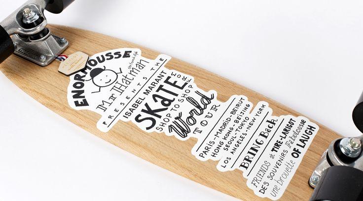 Heritage Paris x Isabel Marant - Skateboard - Slalom #isabelmarant #heritageparis #skate #skateboard #fashion #luxery #mode
