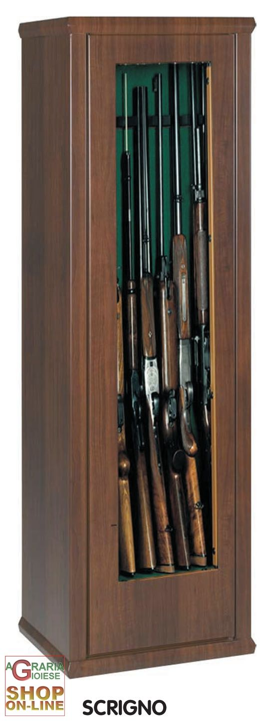 ARMADIO PER FUCILI SCRIGNO 2 CON TESORETTO H.150 cm. 7 POSTI VETRO https://www.chiaradecaria.it/it/armadi-portafucili/672-armadio-per-fucili-scrigno-2-con-tesoretto-h150-cm-7-posti-vetro.html