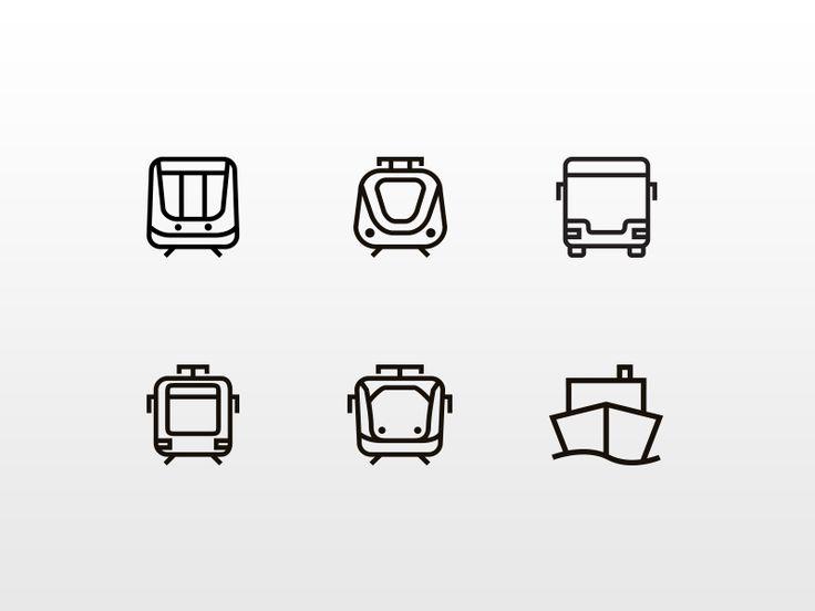 MTR Stockholm Transport Icons