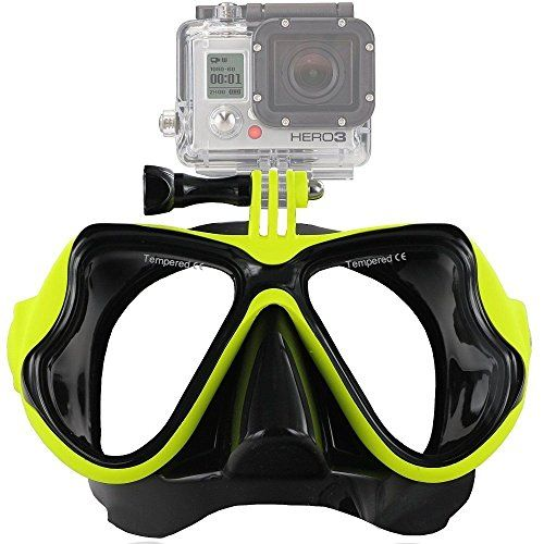 Diving Mask,LANYI Adult Snorkeling Swimming Diving Mask Panoramic Wide View, Dive Mask for Scuba Diving, Adult Swim Goggles for Gopro hero4 hero3 or Other Action Camera. (Fluorescent yellow) - http://scuba.megainfohouse.com/diving-masklanyi-adult-snorkeling-swimming-diving-mask-panoramic-wide-view-dive-mask-for-scuba-diving-adult-swim-goggles-for-gopro-hero4-hero3-or-other-action-camera-fluorescent-yellow/