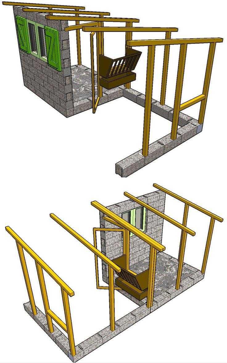 Plan dune cabane pour chevres en parpaings et bois abri - Fabriquer un abris de jardin en bois ...