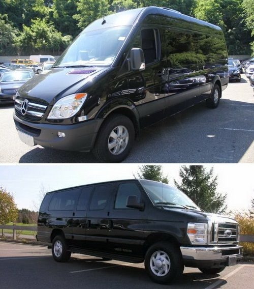 Dollar for dollar the Sprinter Van is the most economical means of travel for larger groups of 10-12 or smaller parties with additional or oversized luggage