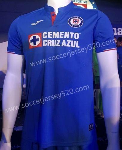 61f793e27 2019-20 Cruz Azul Home Blue Thailand Soccer Jersey AAA-912