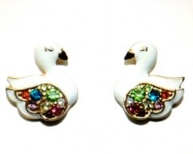 Anna Sui Swan Earrings www.juicyjewellerylondon.co.uk £6.99