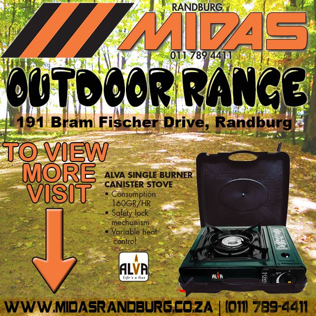 We carry a #widerange of #outdoor gear. Get all your #camping supplies from us in #Randburg #Joburg