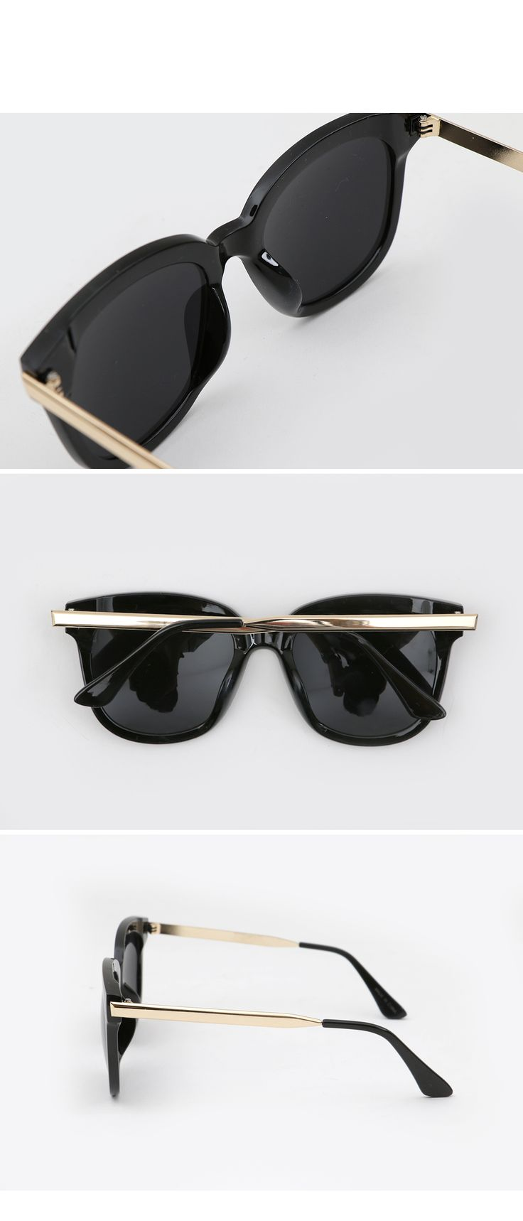 Square Plastic Frame Sunglasses - BLUEPOPS, Discover Korean urban casual | plus size outers, tops