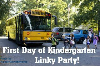 First Day of Kindergarten Linky Party