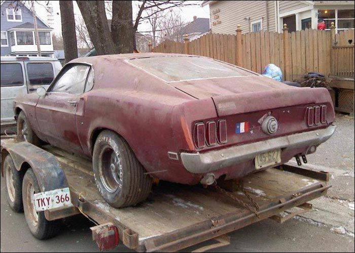 19 Year Old Dallis Allen Is Undergoing The Project Of Restoring A 1969 Ford Mustang Mach He Has Nicknamed His Stang Annabel And Plans On Building