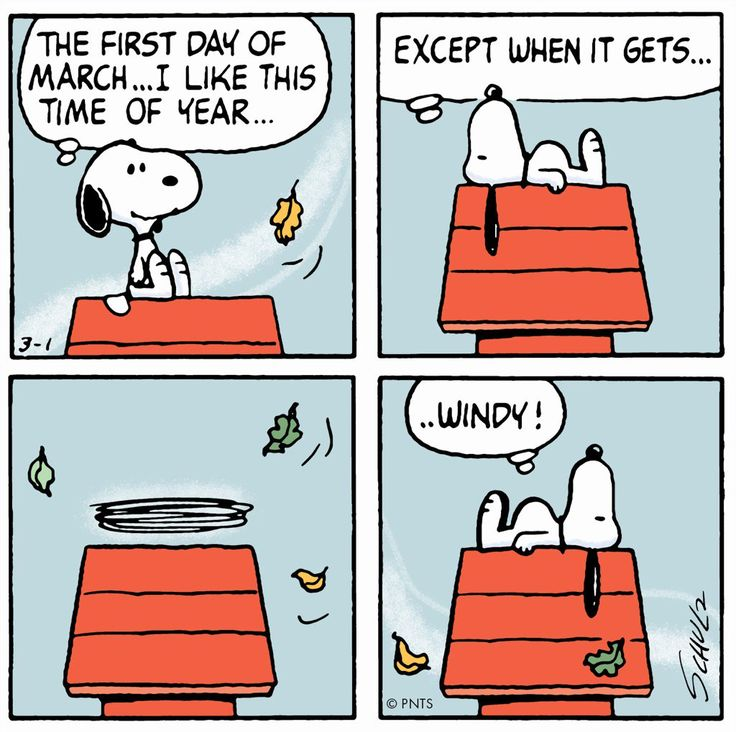 The first day of March... Snoopy, March 2017