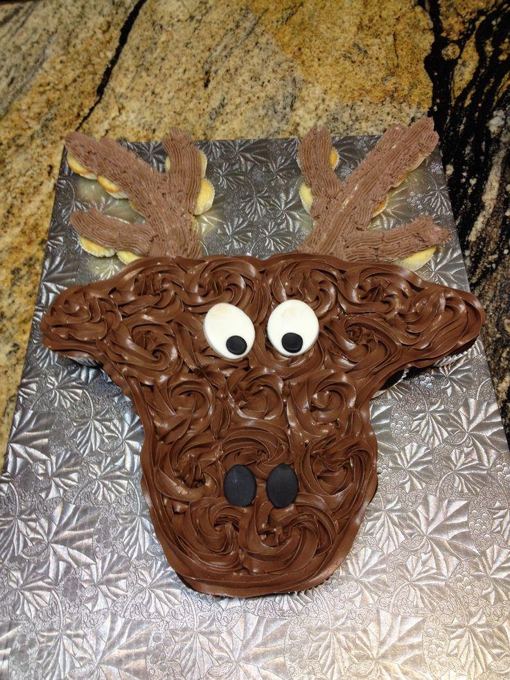 Moose+Cupcakes Moose pull apart cupcake cake | Baby Cakes Creations ...