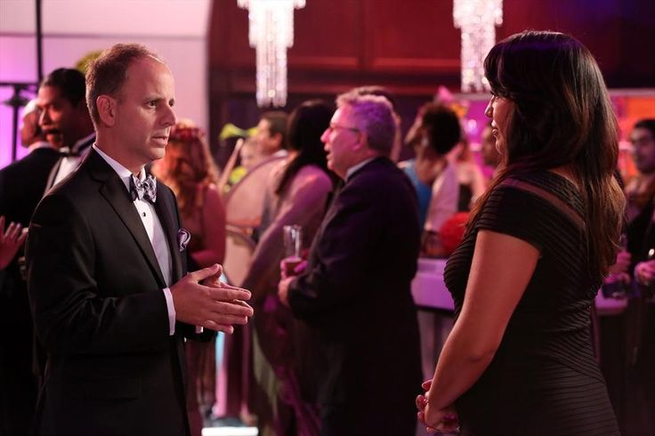 Callie mingling at the gala
