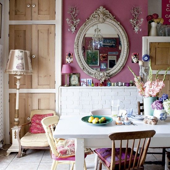Eclectic kitchen-diner