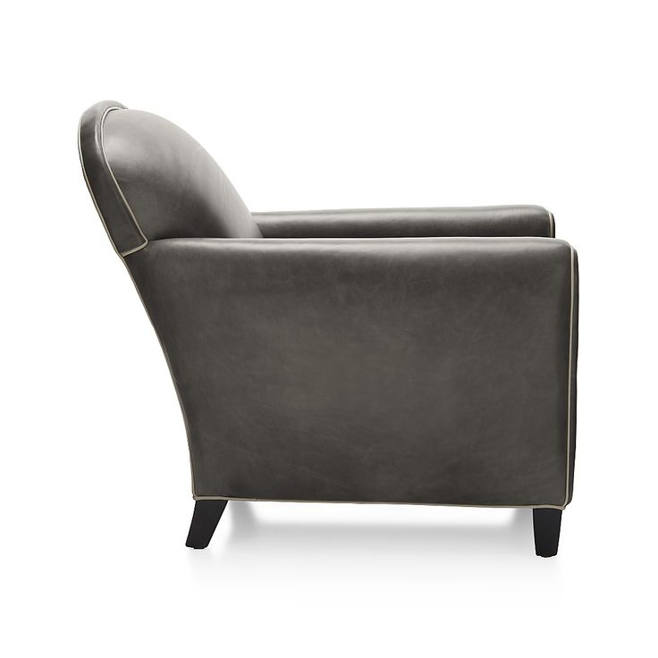 Shop Eiffel French Leather Club Chair.   Inspired by ready-to-wear leathers, the stunning leather upholstery tailors beautifully and has a gorgeous wax finish.