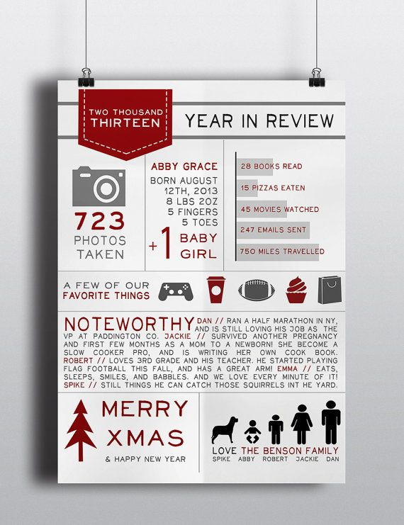 Holiday infographic christmas letter by for Christmas newsletter design ideas