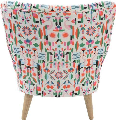 Fancy Heals chair with Malika Favre pattern