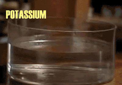 Alkali metals reacting in water
