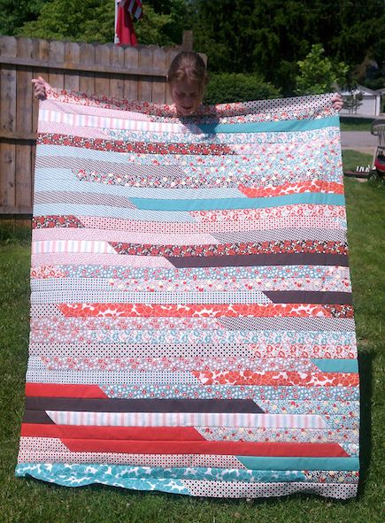 Jelly Roll Quilt You Can Make in a Day!