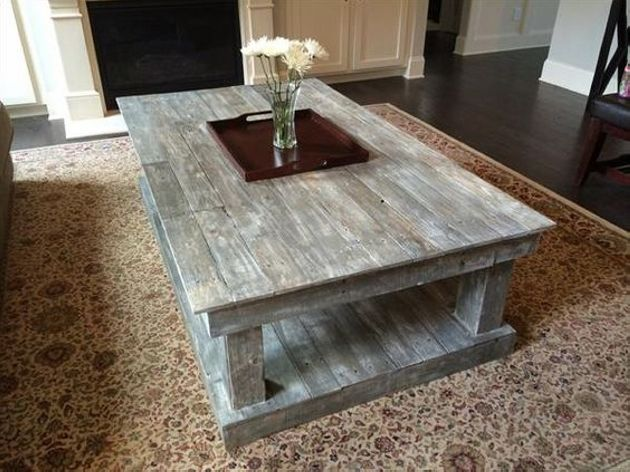 This rectangular shape coffee table is very attractive and its grayish color is very appealing. This coffee table is serving as a double function because it has two portions of the same size.  You can place all kind of stuff in lower portion like papers magazine, decoration pieces and other things which you like.