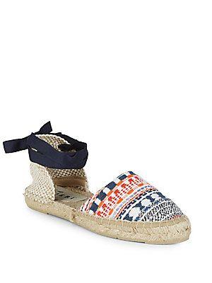 761828e49 MANEBI VALENCIANA WOVEN LACE-UP ESPADRILLES. #manebi #shoes ...