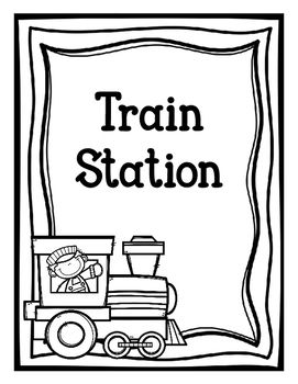 a great pack to make your dramatic play train station even more exciting pages included train. Black Bedroom Furniture Sets. Home Design Ideas