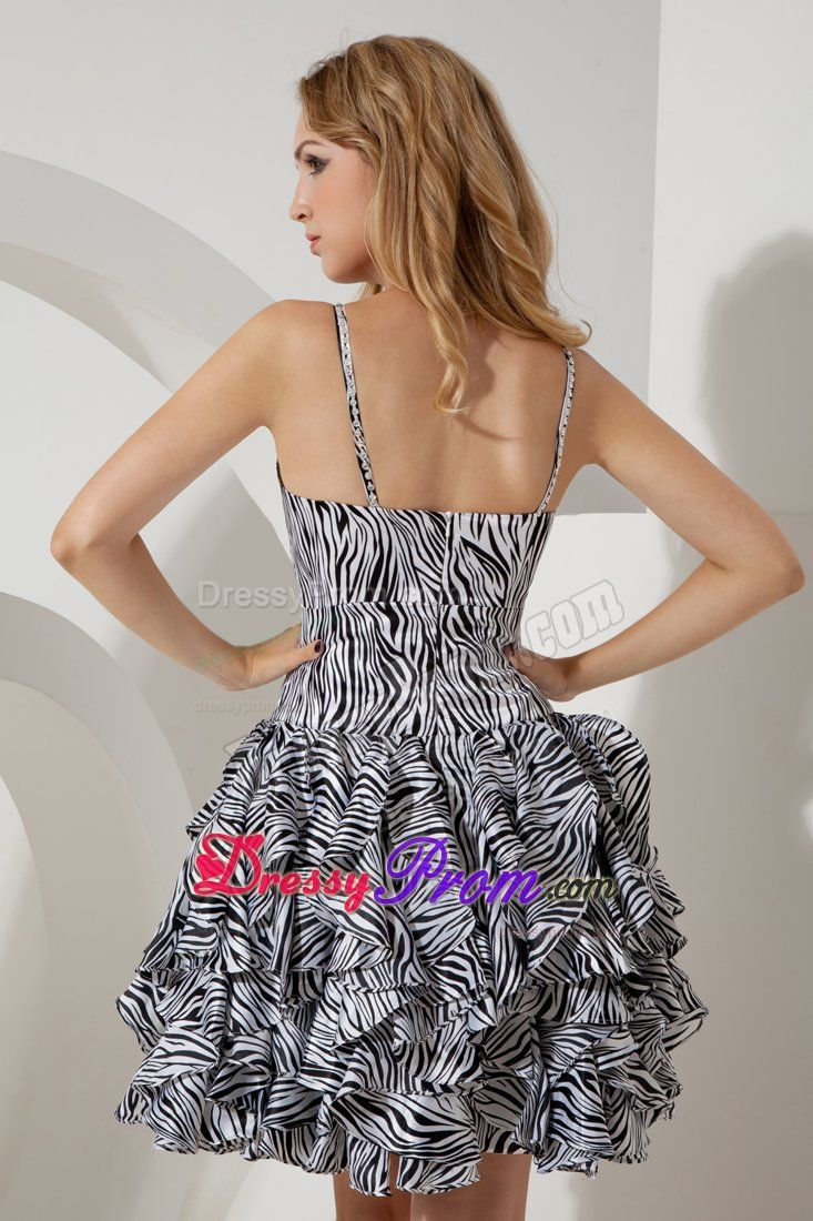 Zebra Graduation Dresses For 8Th Grade