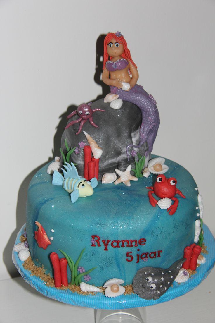 zeemeermin taart voor Ryanne
