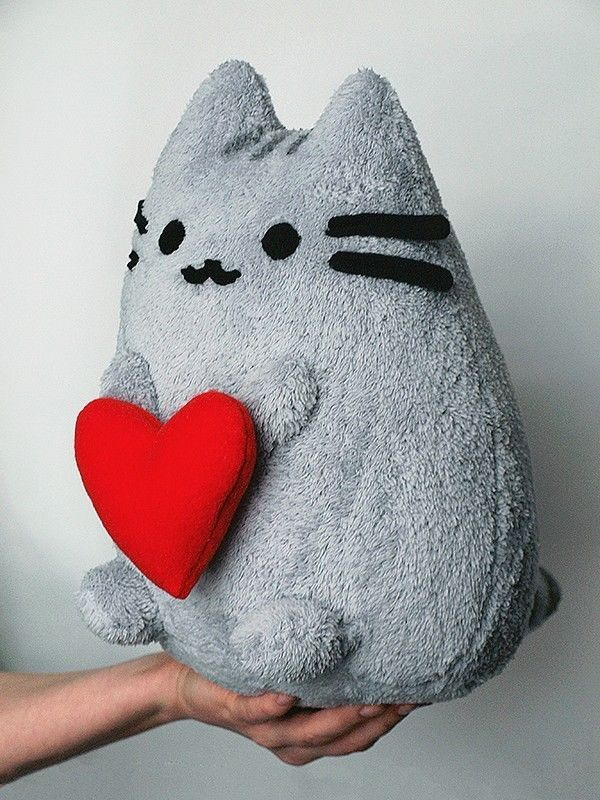 Pusheen the Cat with Heart, Plush Toy