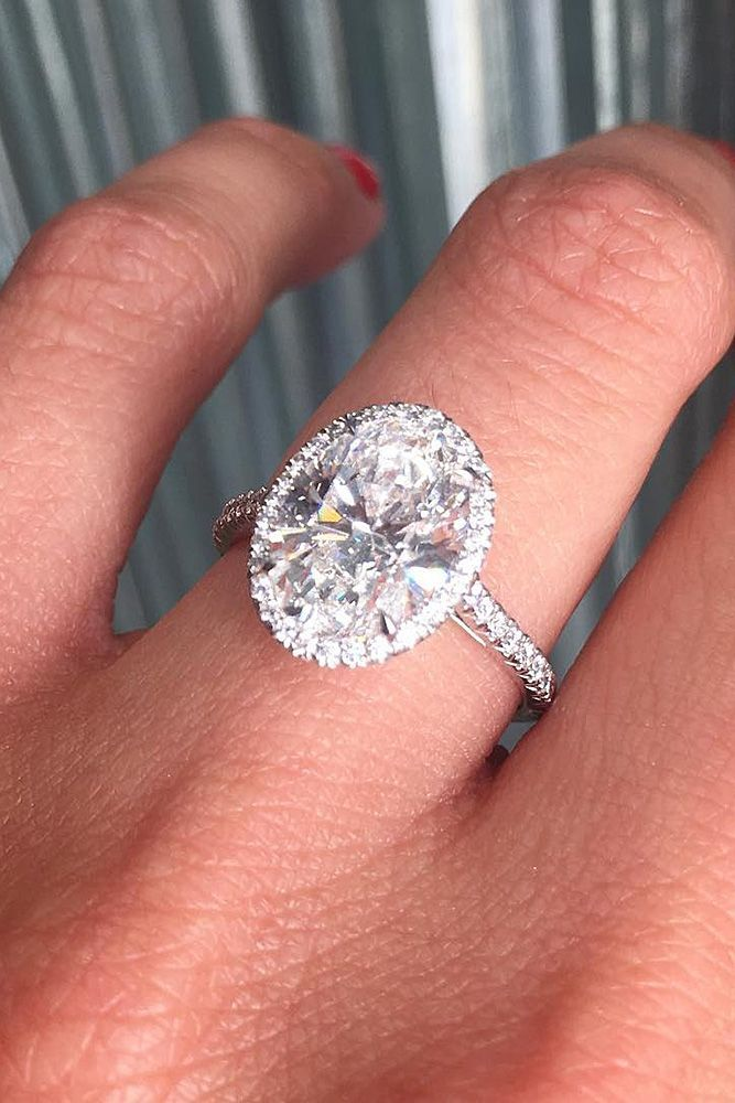 18 Tiffany Engagement Rings That Will Totally Inspire You ❤️ tiffany engagement rings pave band oval cut halo diamond ❤️ More on the blog: http://ohsoperfectproposal.com/tiffany-engagement-rings/