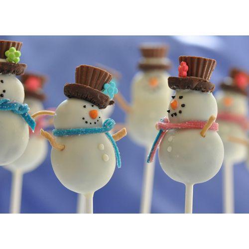 Snowmen - Mini Snowman Cake Pop Mold.. So so versatile
