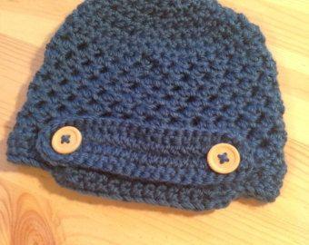Crochet chapéu jornaleiro bebê