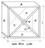 Cube wine rack plans Feb 5 2014 This cellar wine rack could easily double as awesome shelving for just If you print out or save plans be sure to check in on my site to be sure you of the outer cube what conversion did you use to determine the inner This X Cube Wine Rack Plan is from Mitre10 This is a great winerack design because you can build a number of cubes and stack them horizontally or vertically A cube wine rack is one of the easiest building projects you can undertake to give an ...