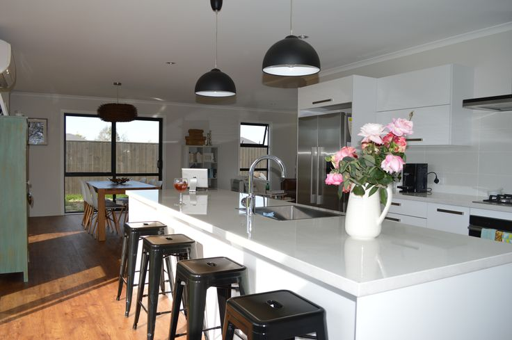 It is always handy to have lighting over your kitchen island.