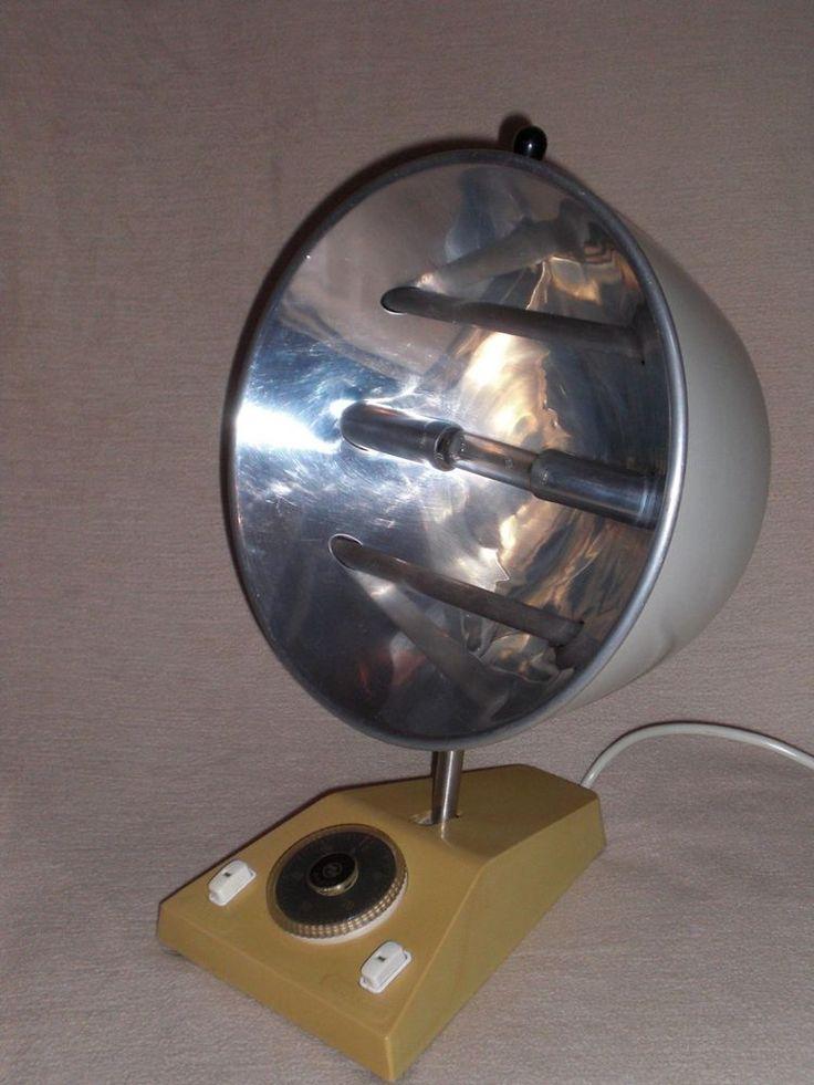 Antike Wärmelampe Infrarot UV Strahler Thelta Sonne Q64 vintage heat lamp