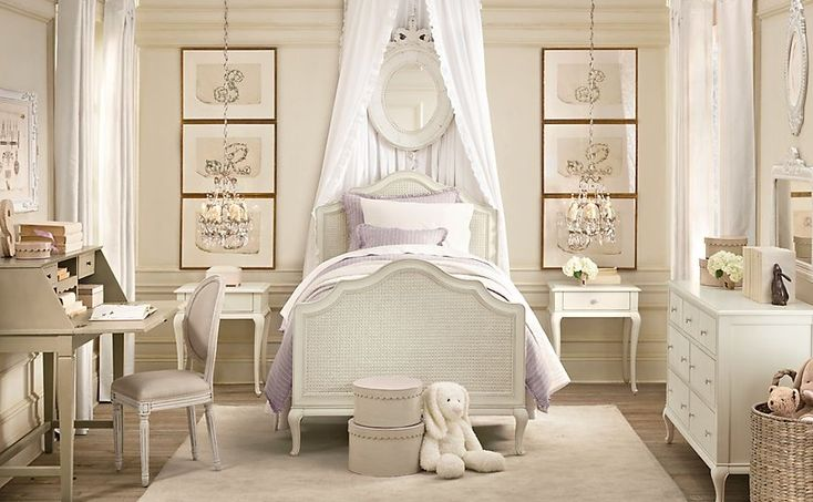 Lilac Cream Girls Rooms : Soft, Feminine And Traditional Little Girls Rooms | Kids Room Designs, Childs Room