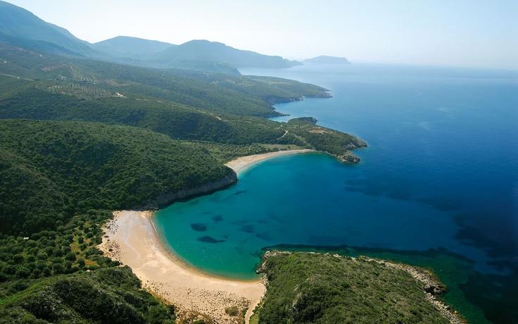 Navarino bay complex of beaches, Messinia, Greece
