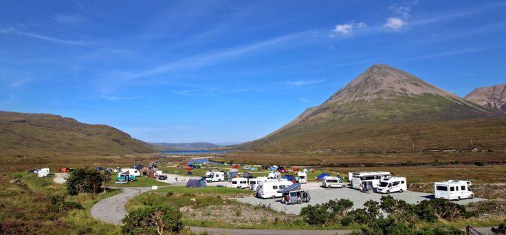 Sligachan Camp Site Sligachan, Isle of Skye, Scotland. Outdoors. Camping. Campsite. Holiday. Travel. Countryside. Hotel Nearby.