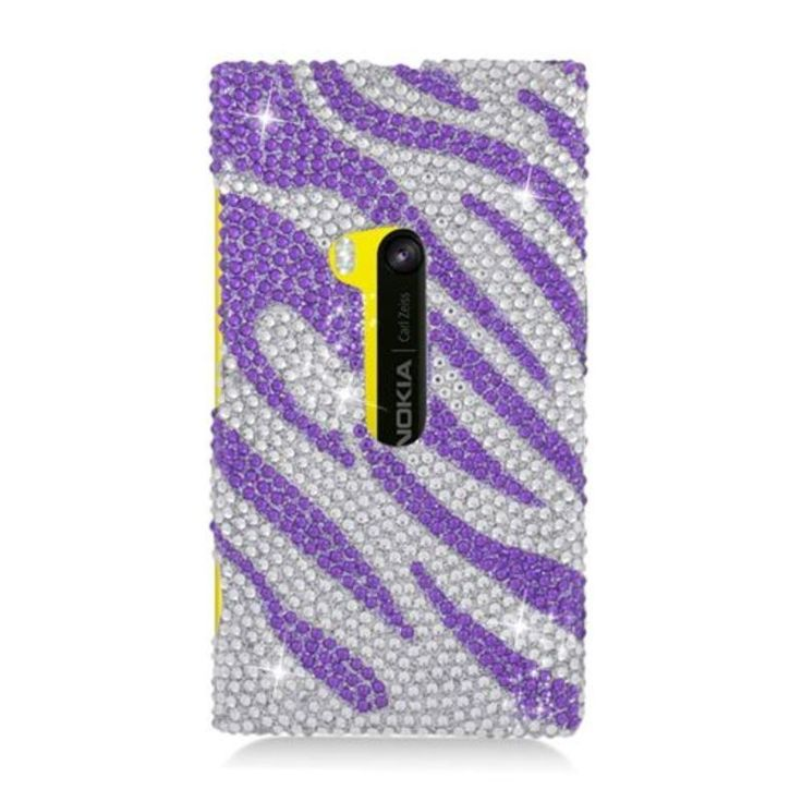 Insten / Silver Zebra Hard Snap-on Diamond Bling Case Cover For Nokia Lumia 920