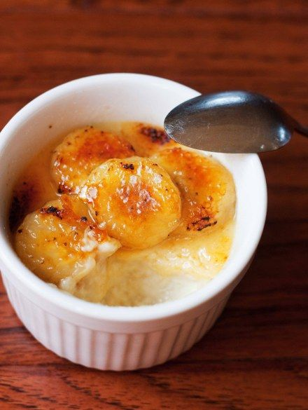 Bananas Foster Creme Brulee recipe from the Foodologie blog #gf