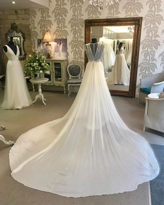 Magnificent Bridal Overskirt Creating Drama Over The Beautiful