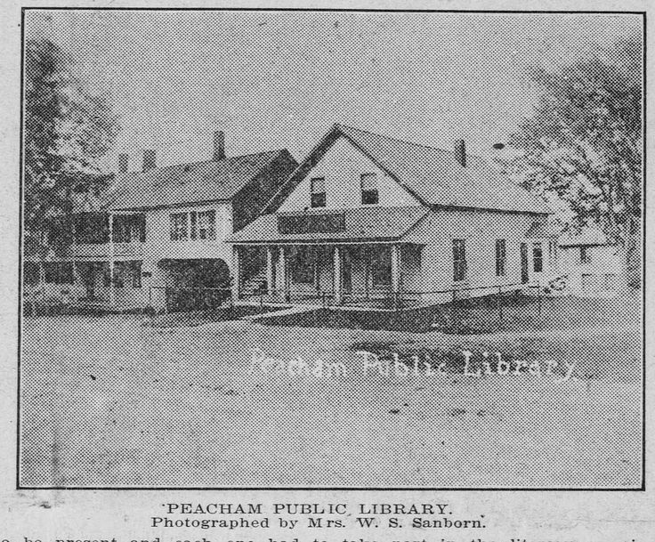 Peacham Public Library 1910 Historical Architecture Vermont Historical Newspaper