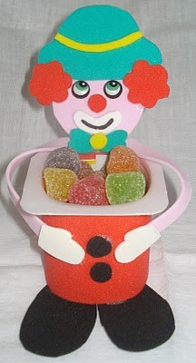 clown iogurt candy holder
