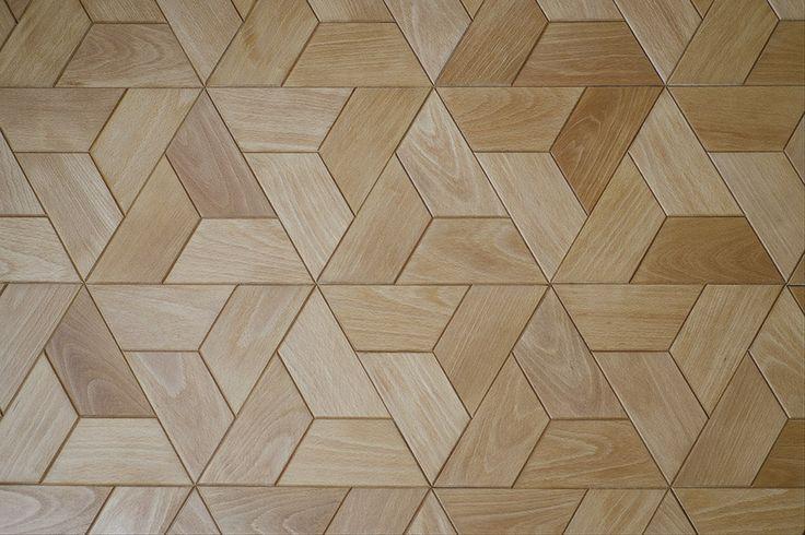 Niesamowity wzór parkietu - klepki Half-hex od dudzisz wood and floor / Unusual parquet pattern - Half-hex tiles by dudzisz wood and floor