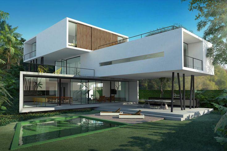 Galeria da Arquitetura | Casa 3, saiba tudo sobre o projeto de arquitetura! Varias áreas abiertas, terrazas