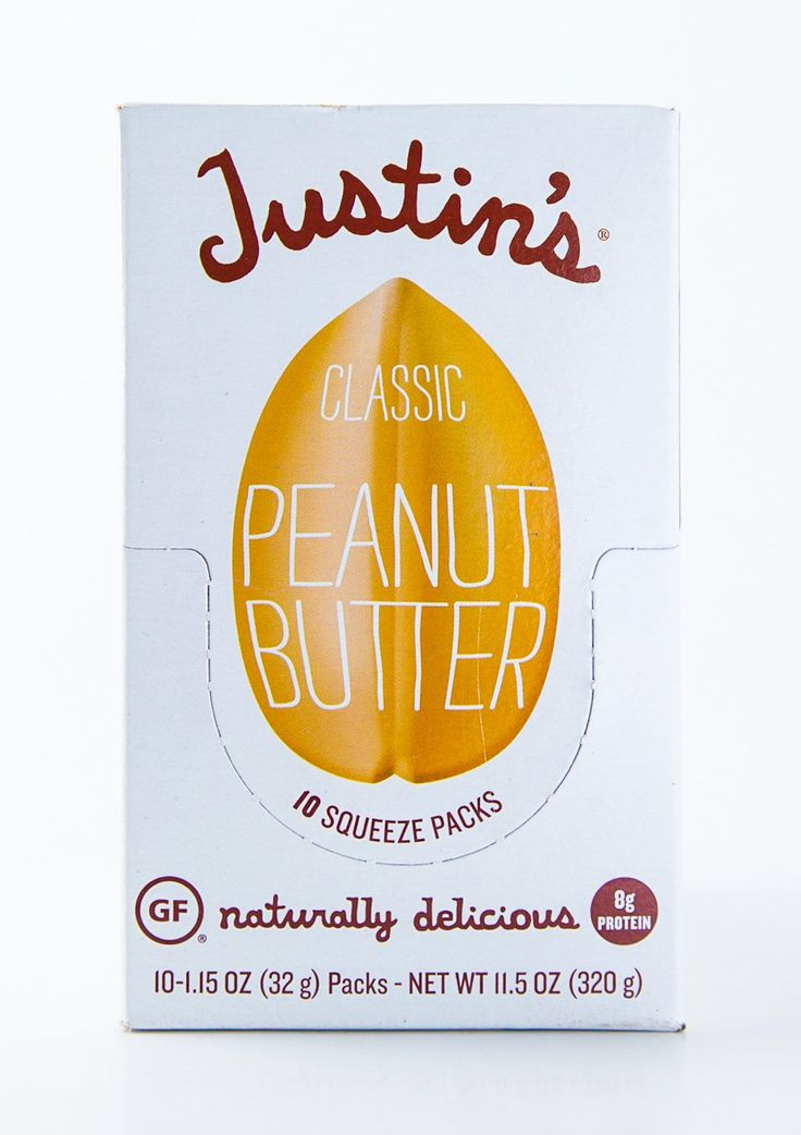 Justin's - Classic Peanut Butter Packets - Case of 10-1.15 oz Packs (11.5 oz Box)