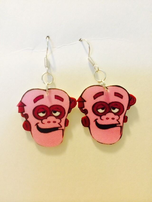Frankenberry Cereal Mascot Earrings HANDMADE PLASTIC CHARMS 80s Eighties Retro #HandmadebyMarieLee